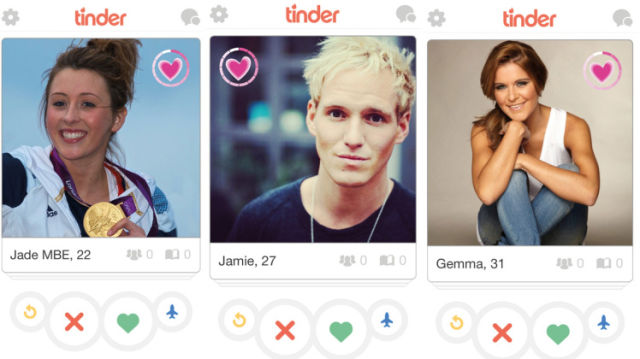 Perfis do Tinder